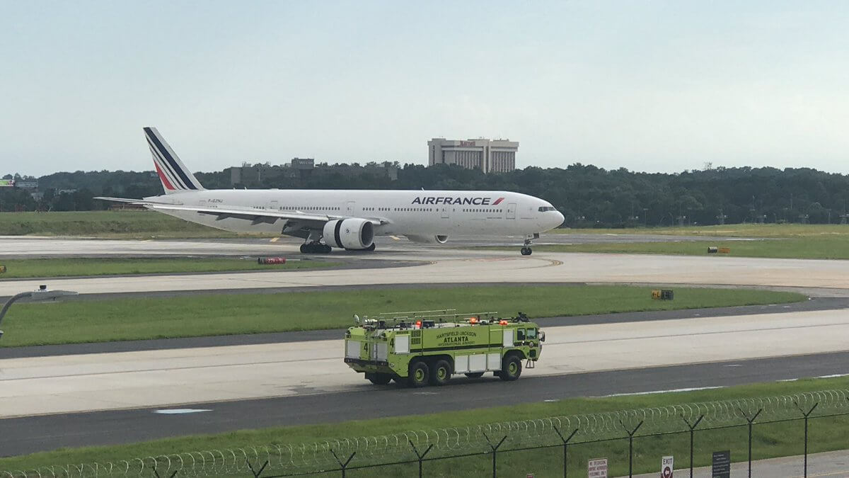 , Air France Engine Failure forced Boeing 777 to make a hard emergency landing in Atlanta, Buzz travel | eTurboNews |Travel News