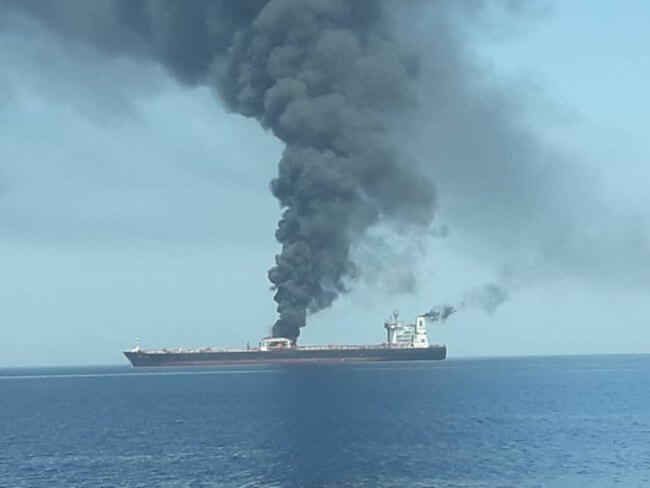 , War or Terror in the Gulf of Oman? Oil Tankers in flames, crew rescued and taken to Iran, Buzz travel | eTurboNews |Travel News