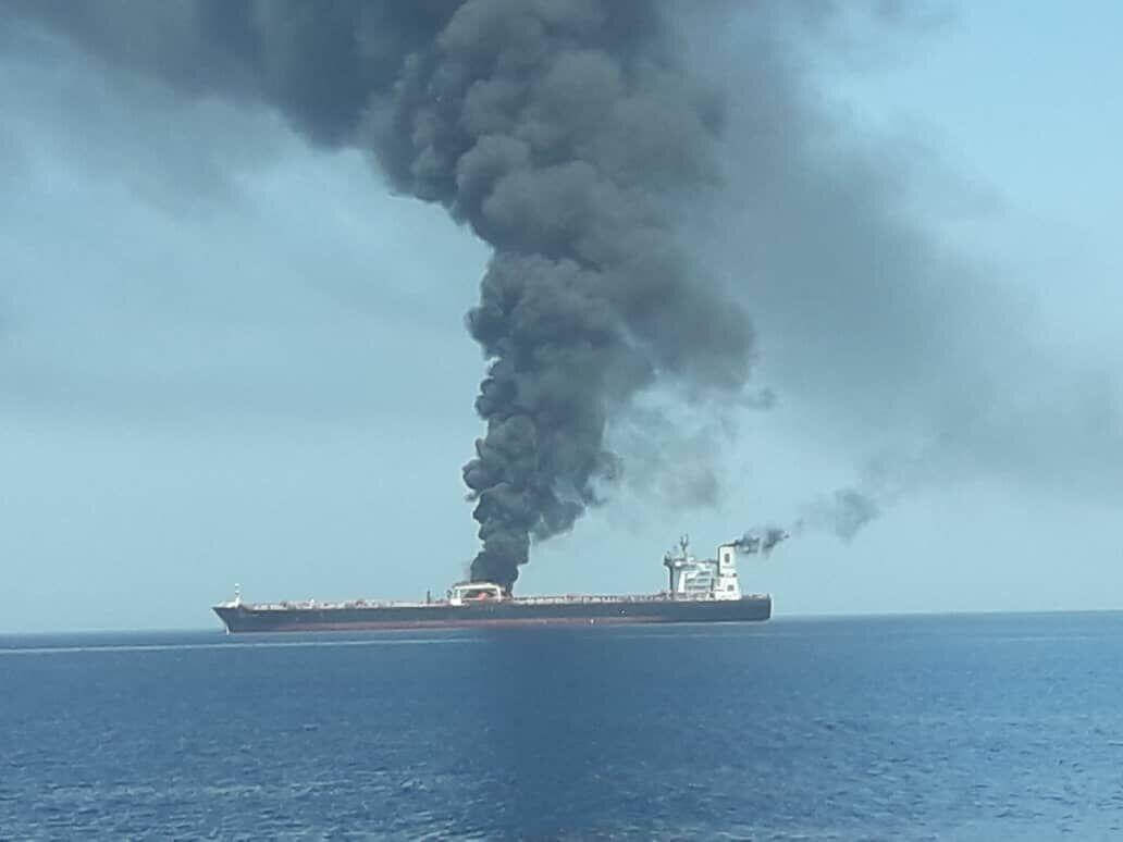 War or Terror in the Gulf of Oman? Oil Tankers in flames, crew