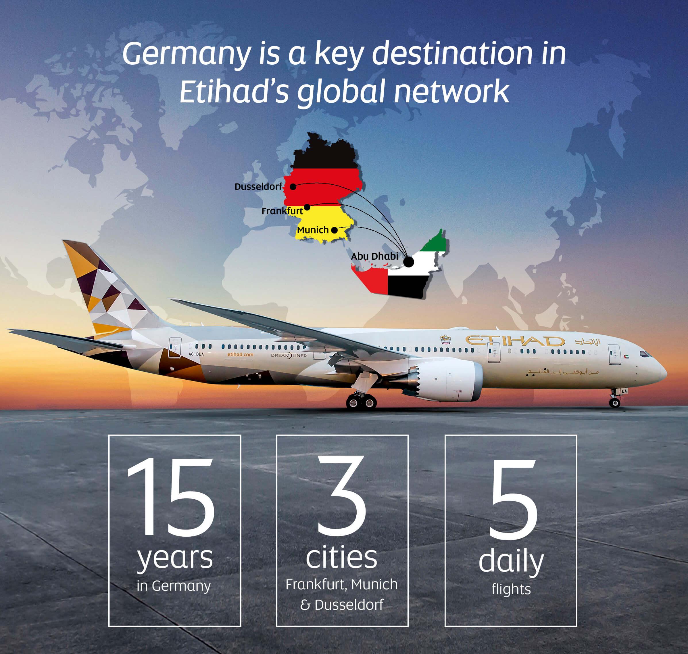 Etihad 15 years service Abu Dhabi to Germany