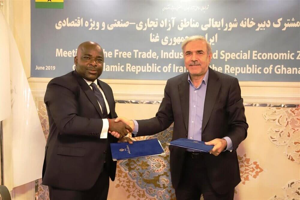 Iran – Ghana signs MOU on tourism and free trade zone cooperation
