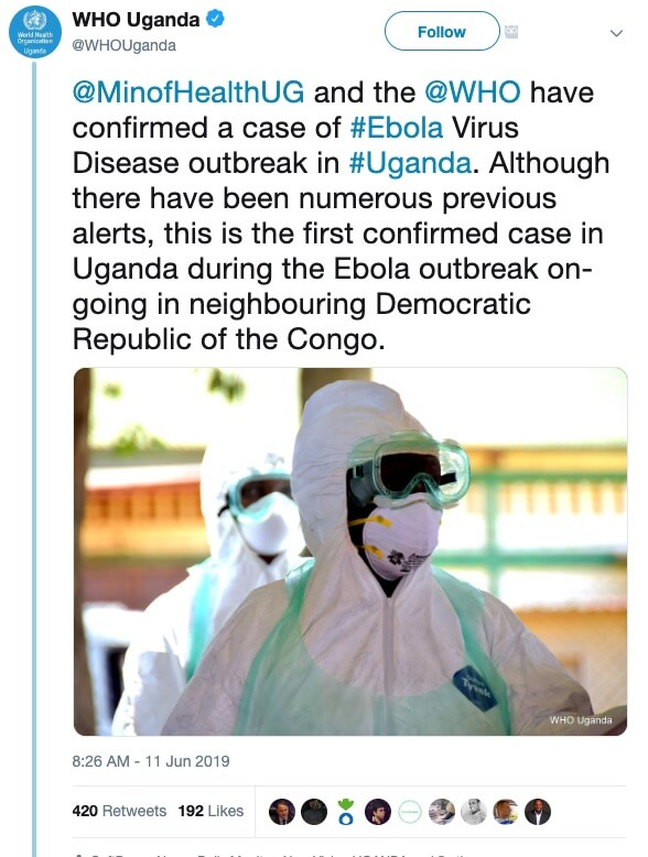Why tourists are not in danger after confirmed Ebola case in Uganda