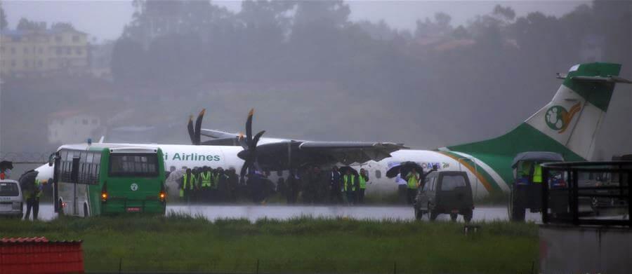, Yeti Airlines passenger plane skids off the runway at Kathmandu airport, Buzz travel | eTurboNews |Travel News