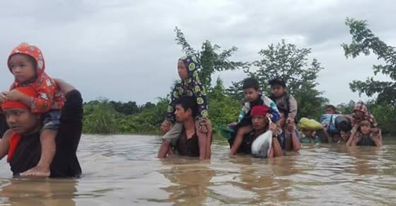 Over 23,000 people flee monsoon flooding in Myanmar