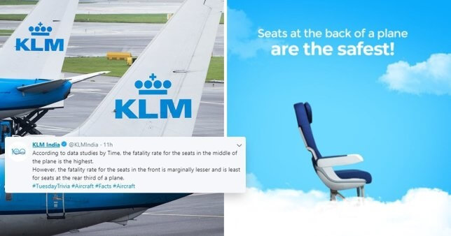 Just in case things go terribly wrong: KLM India tweets 'safest plane seats' guide