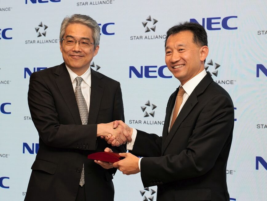Star Alliance and NEC Corporation sign biometric data-based ID platform partnership