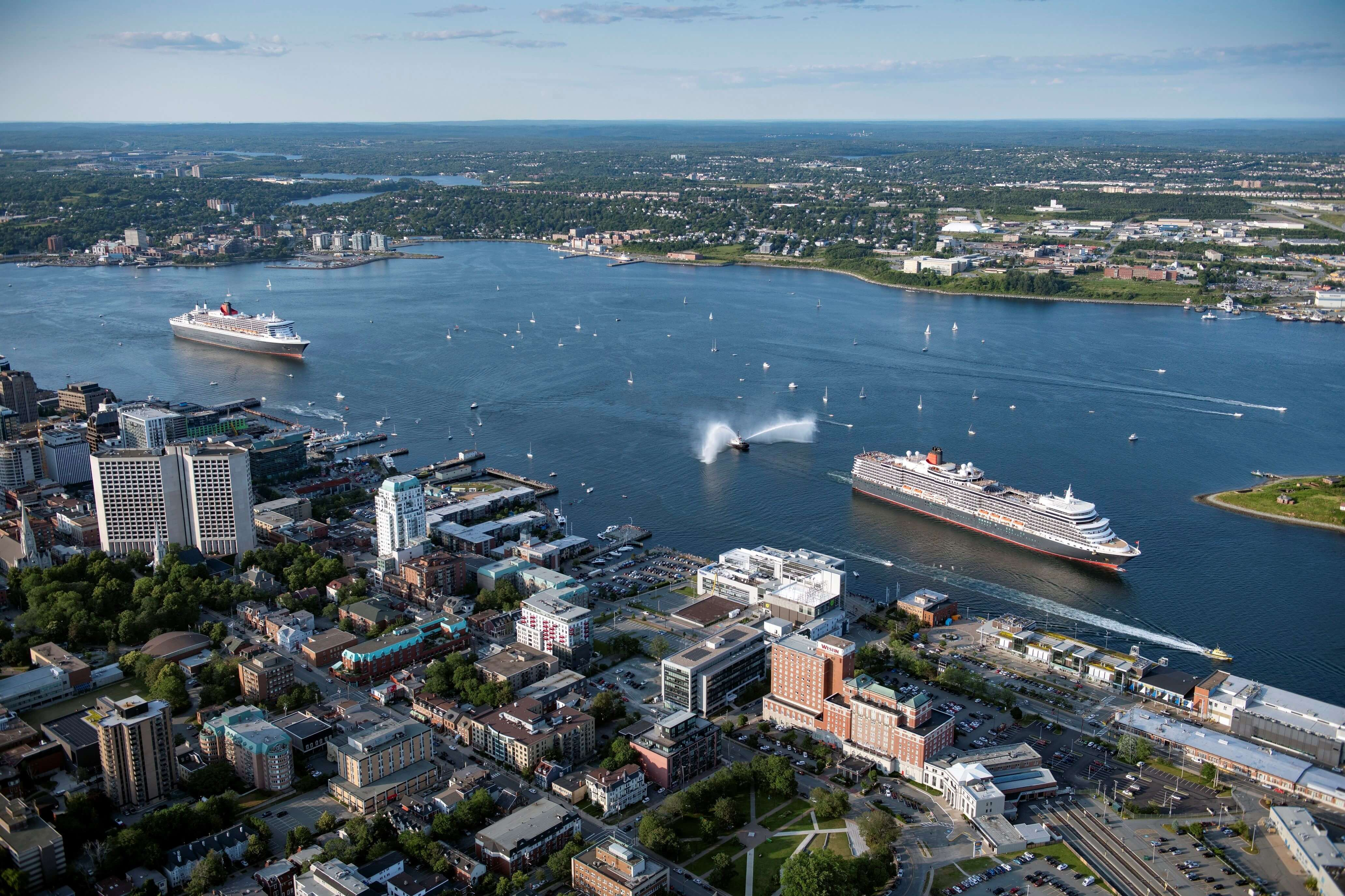 Queen Mary 2 meets Queen Elizabeth in Halifax for the first time