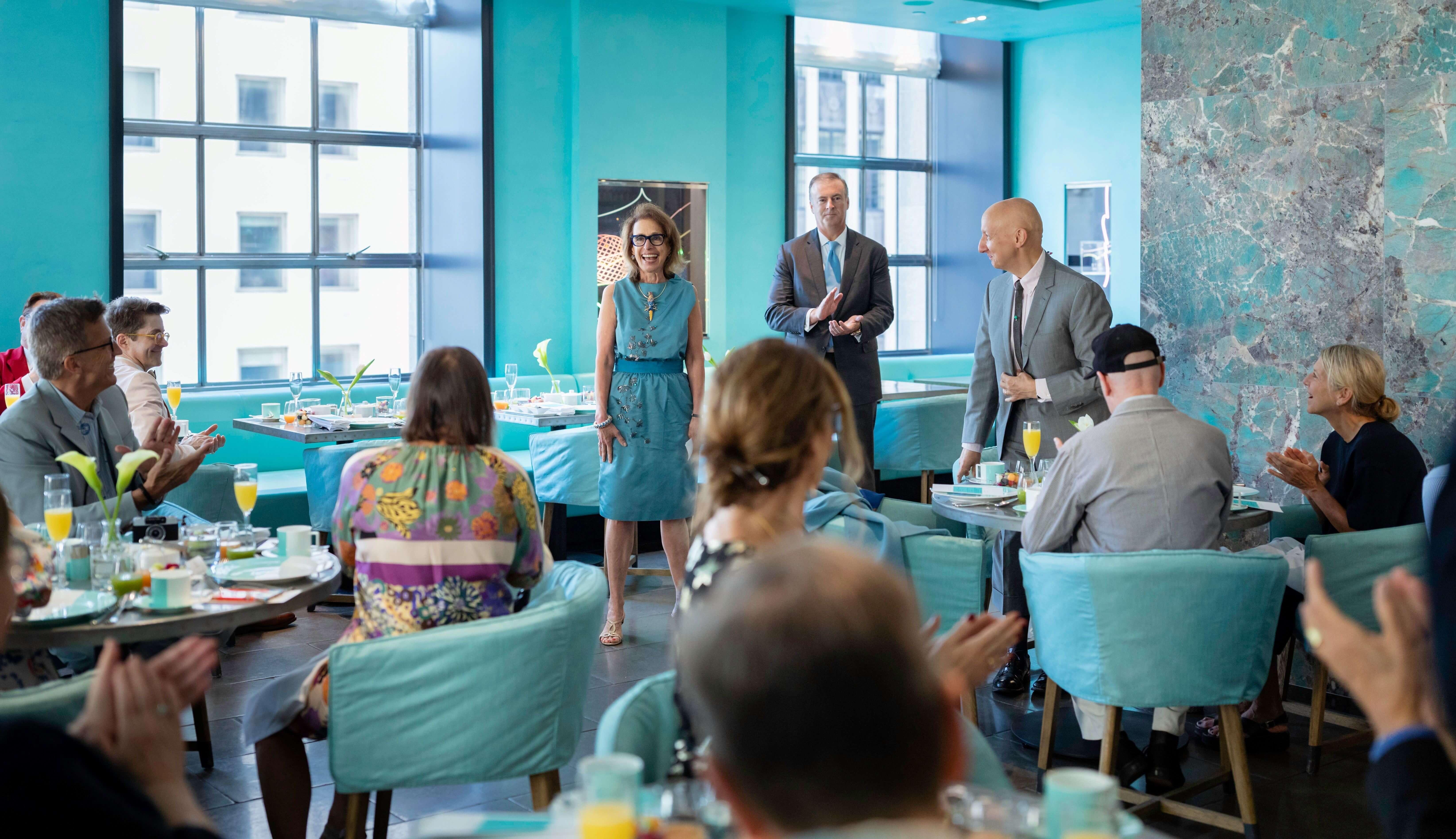 Cunard Sets Sail for 4th Annual Transatlantic Fashion Week with Breakfast at Tiffany's Blue Box Cafe
