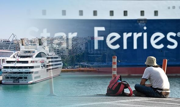 Tourists and locals heading for vacation stranded as Greek ferries go on strike