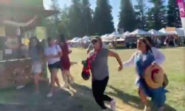 Garlic got visitors shot in California at Gilroy Garlic Festival north of San Francisco