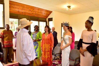 Uganda President and Tourism leaders host Miss World delegation