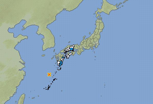 Earthquake strikes northwest of Ryukyu Islands in Japan