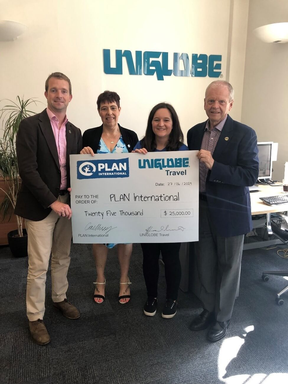 UNIGLOBE Travel gives $25,000 to Plan International UK education program for child refugees