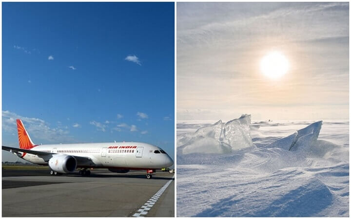 First Indian commercial flight flies over North Pole