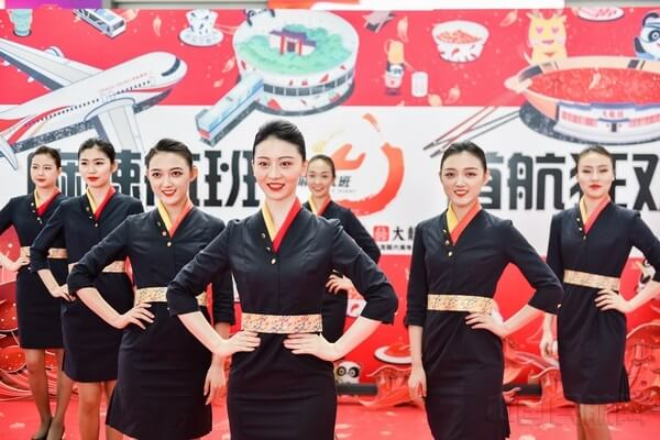 "China's Sichuan promotes its ""spicy culture"" with Chengdu Airlines ""spicy flight"""