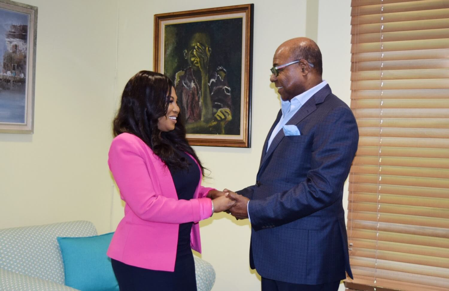 Minister Bartlett meets with Jamaica's new Consul General to New York