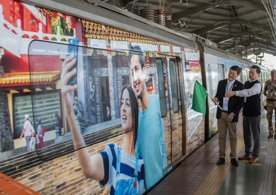 Taiwan Tourism riding the rails in Mumbai
