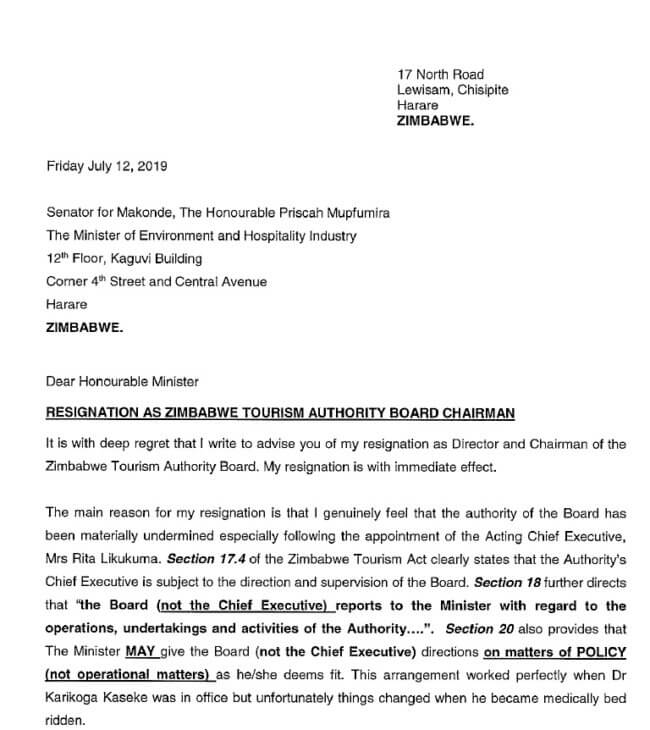 Zimbabwe Tourism Leadership gone and Chaos follows ...