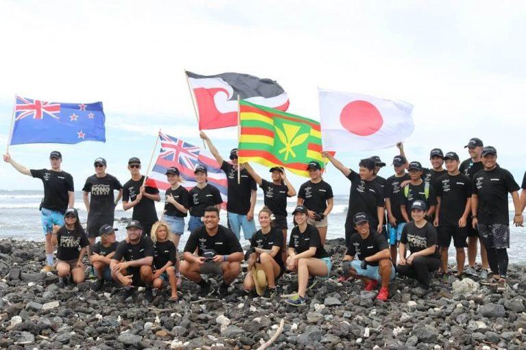 Teenage eco-ambassadors clean up plastic trash from Hawaii's shoreline