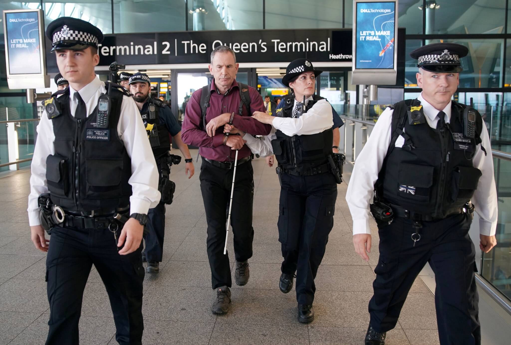 Eco-terrorists arrested at Heathrow Airport after failed 'drone protest'