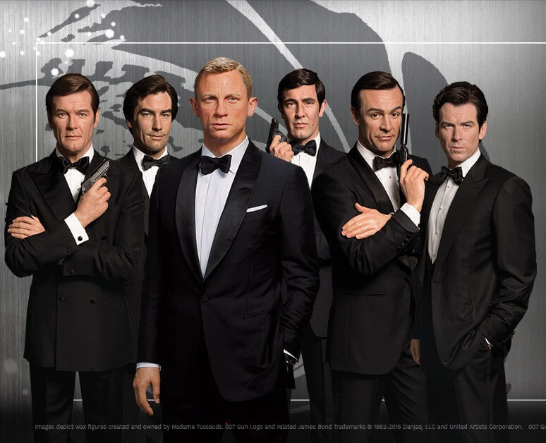 All Six James Bonds will appear at Madame Tussauds Orlando on National James Bond Day