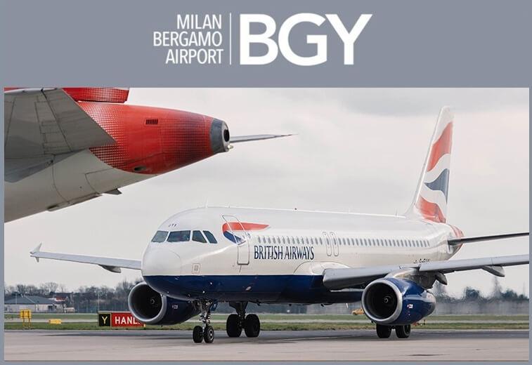 Milan Bergamo Airport gets set for British Airways' Gatwick service