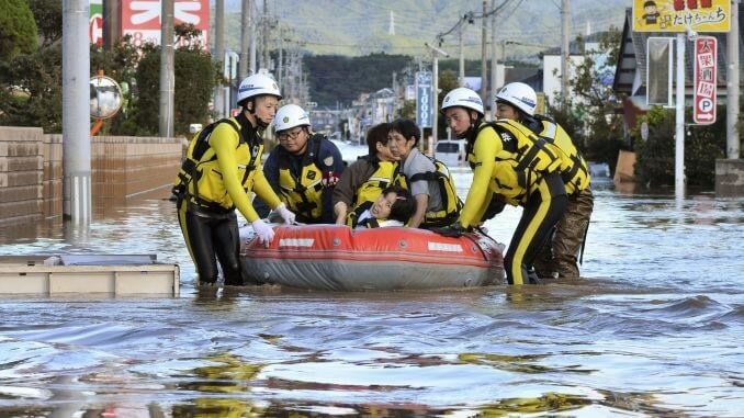 2 people killed, 70 injured, 3 missing as Typhoon Hagibis slams Japan