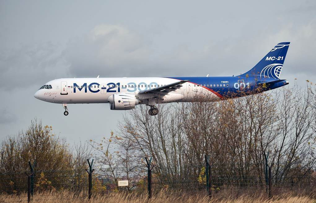 Russia's new MC-21 passenger plane makes emergency landing outside of Moscow
