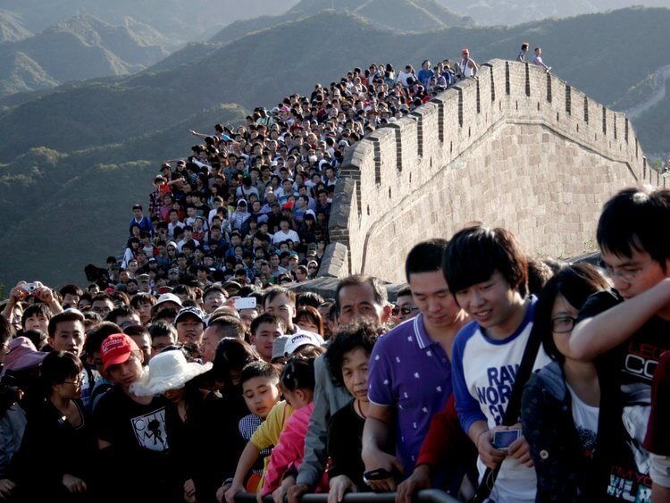 Only in China: Nearly 800 million domestic tourist trips over National Day holiday