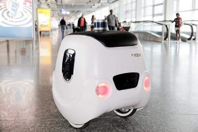 Fraport and e-Novia trialed guide robot YAPE at Frankfurt Airport