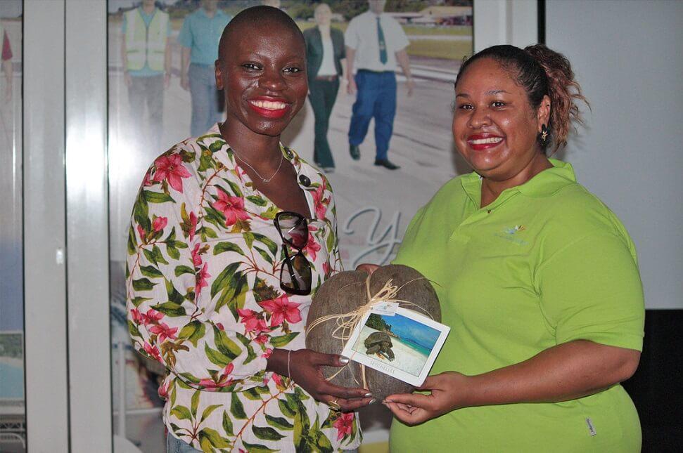Seychelles receives Jessica Nabongo, celebrity traveler, on its shores