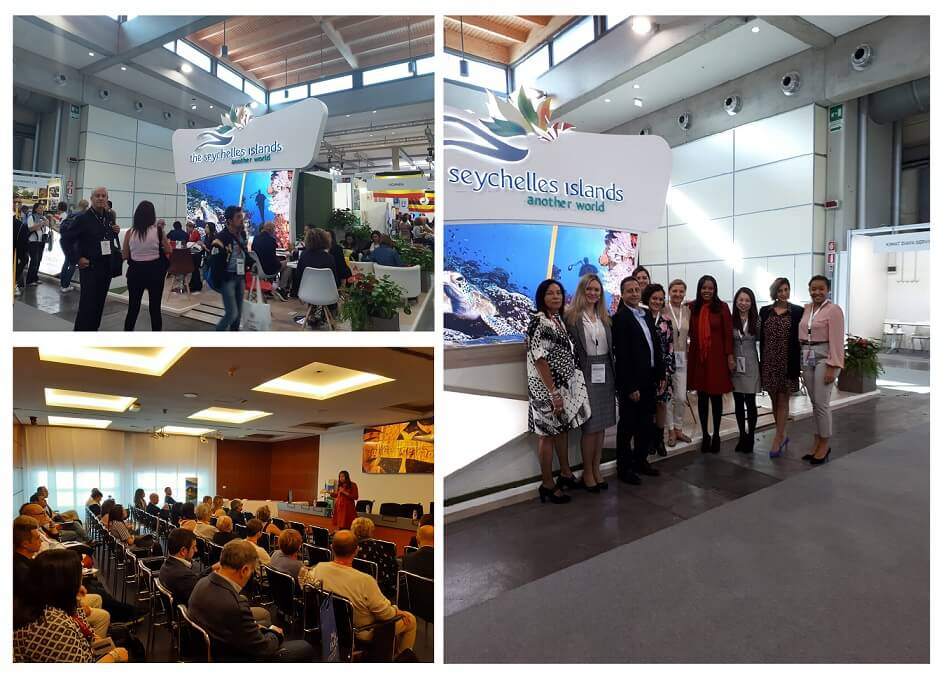 Seychelles captures the Italian tourism market at the TTG Travel Experience