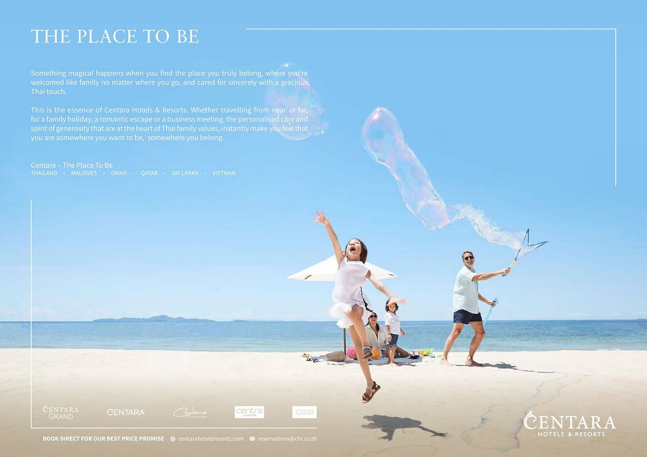 "Centara Unveils New Brand Ad Campaign ""Centara – The Place to Be."""