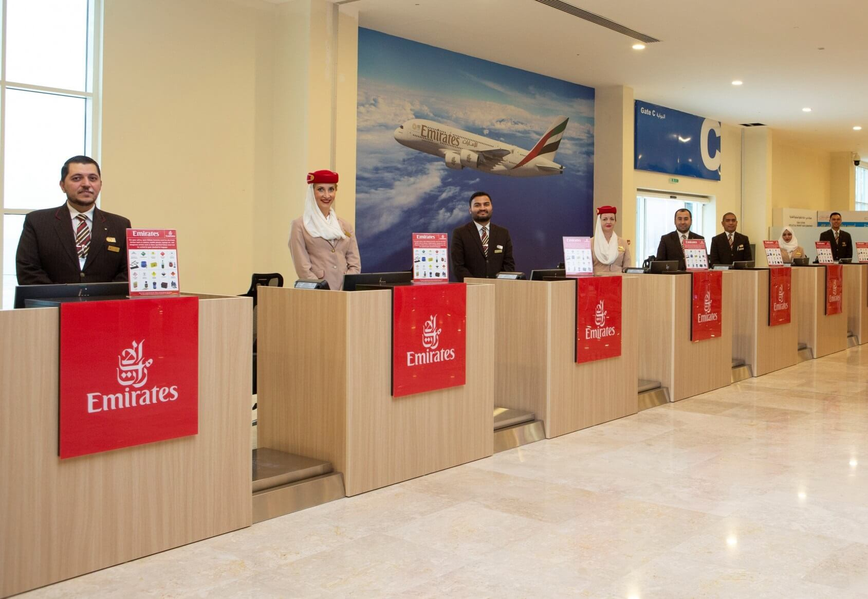 Emirates' new remote check-in terminal provides seamless connections for cruise passengers