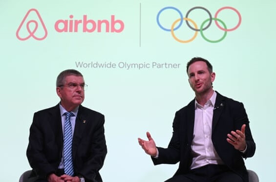 Airbnb partners with International Olympic Committee