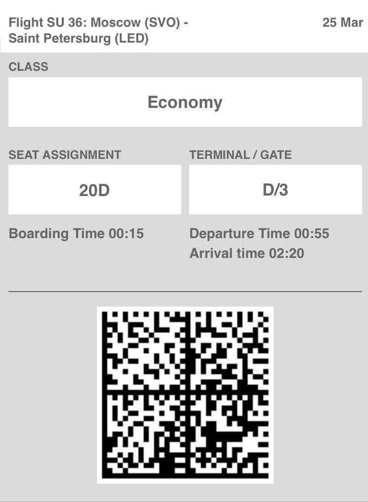 Aeroflot will no longer send boarding information via text messages