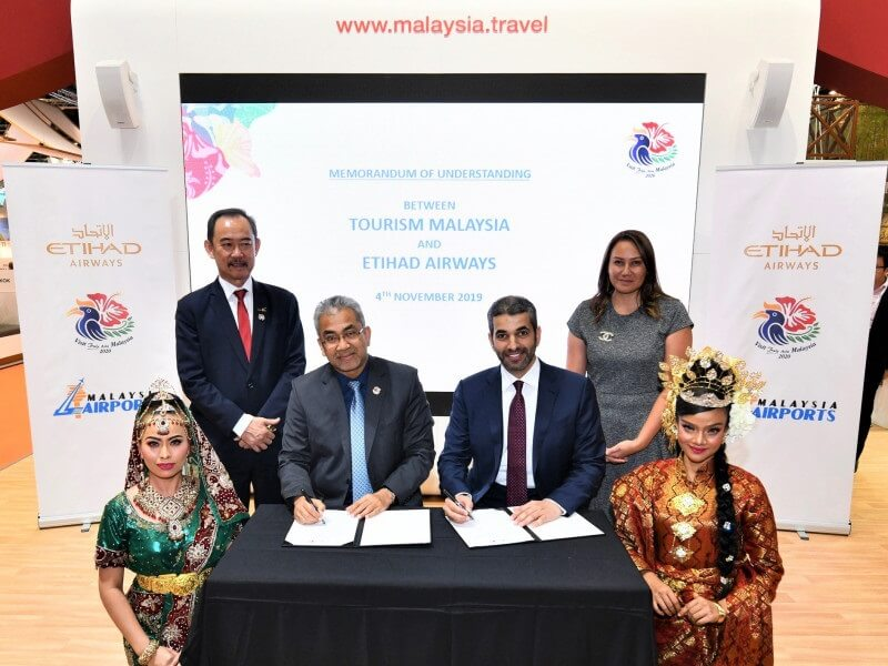 Etihad Airways and Tourism Malaysia partner to attract visitors to Malaysia