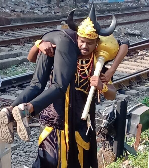 Indian Railways enlists horned Hindu god of death to keep trespassers away | Buzz travel