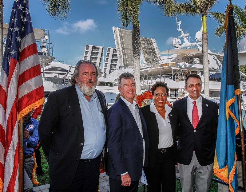 Bahamas Tourism Minister attends International Boat Show: Praises organizers for Bahamas promotion