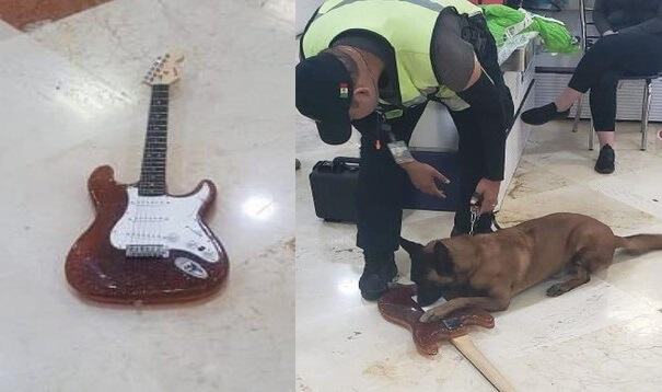 Guitar, made entirely of cocaine, intercepted at Cancun Airport
