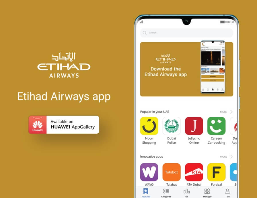 Etihad Airways launches Huawei AppGallery app