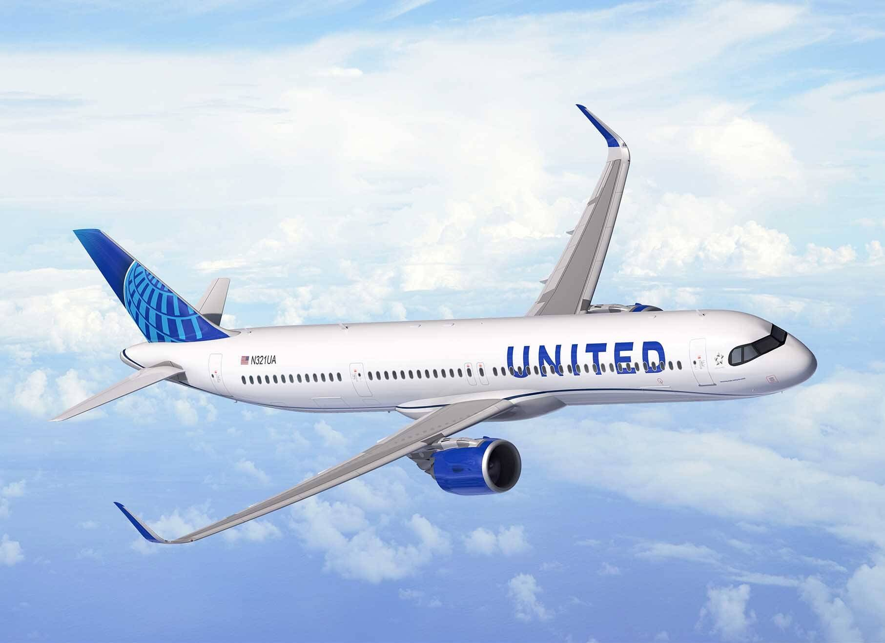 United Airlines plans transatlantic route expansion with 50 new Airbus A321XLR jets