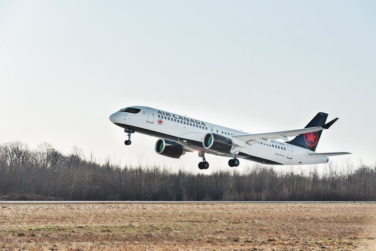 Air Canada takes delivery of its first Airbus A220 jet