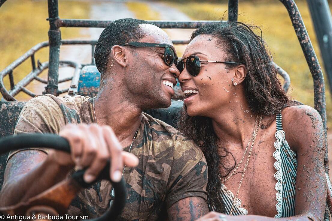 Supermodel Couple Afiya Bennett and Lloyd Dickenson on a Romantic Honeymoon in Antigua and Barbuda