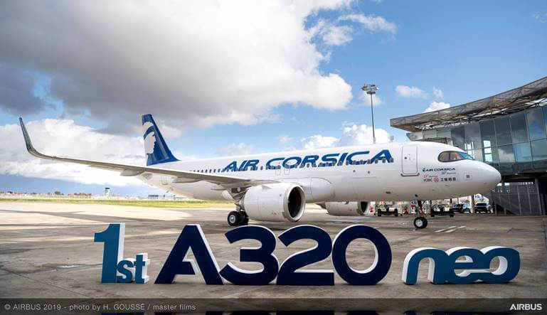Air Corsica received leased Airbus A320 Neo