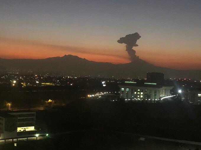 Mexico's Popocatepetl volcano eruption triggers 'level 2' alert