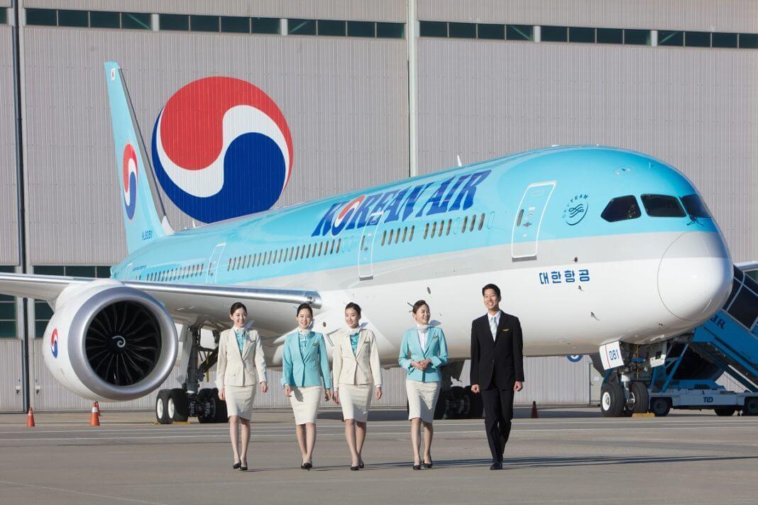 Korean Air lands at Budapest Airport