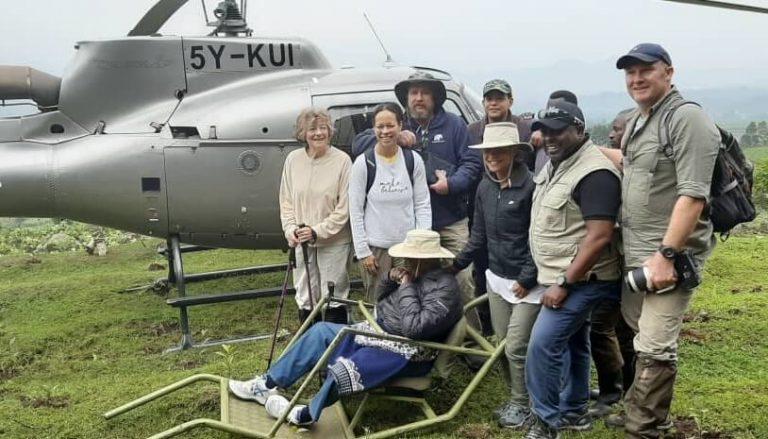 100-year-old Charles Njonjo tracks mountain gorillas at Mt Mgahinga National Park