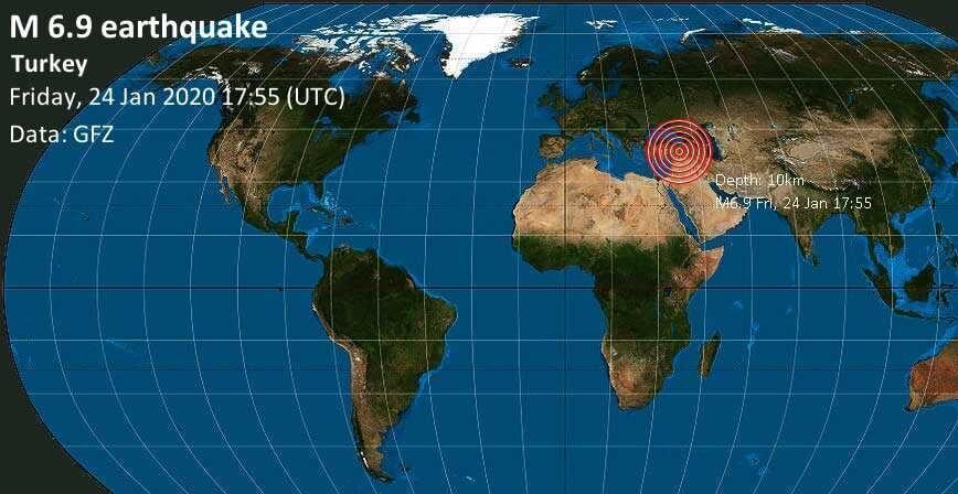 Powerful M6.9 earthquake rocks Turkey