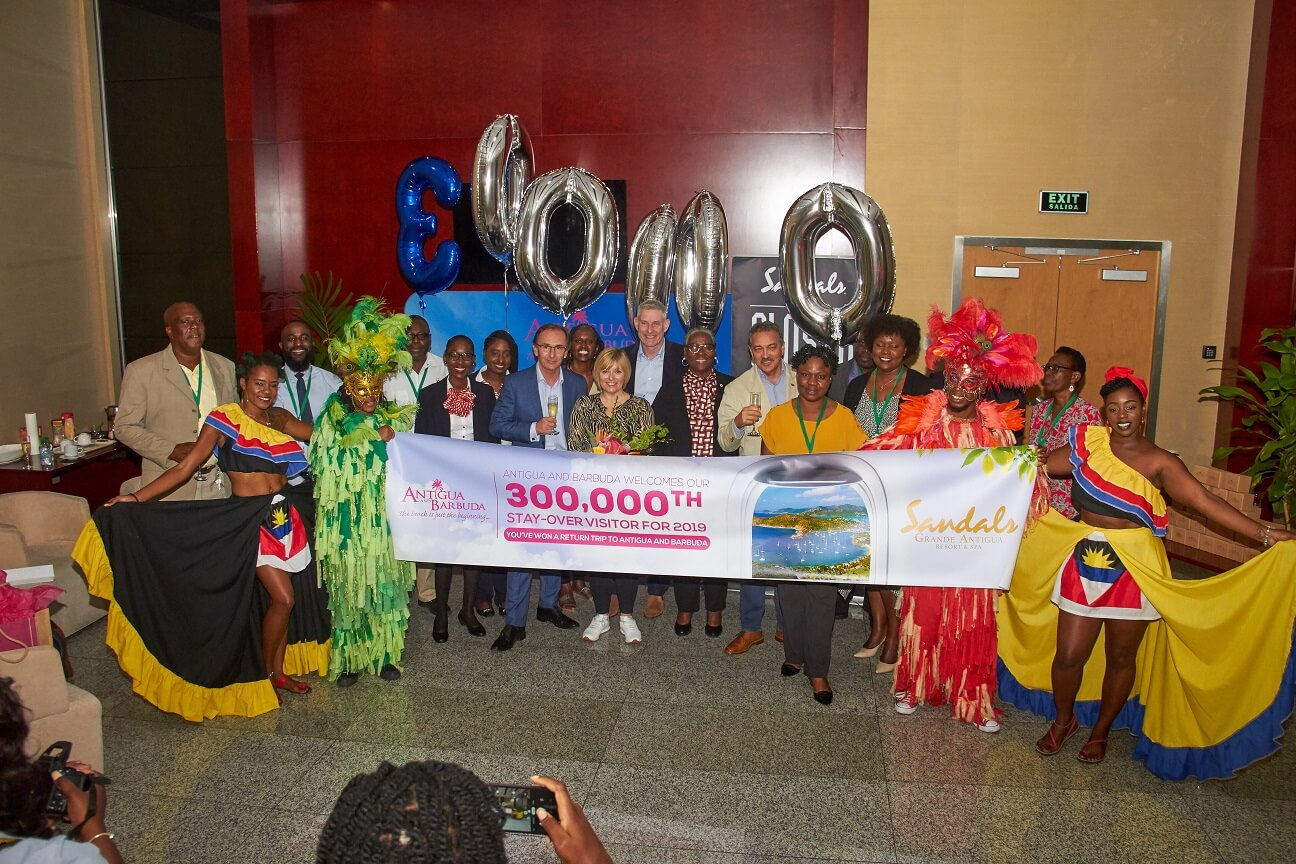 Antigua and Barbuda reaches 300,000th stay-over visitor milestone in 2019